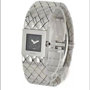 CHANEL Acier Matelasse Quartz Watch